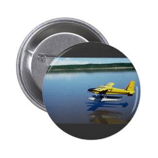 Beaver, landing on river pinback buttons