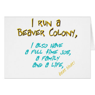 beaver leader turquoise greeting card