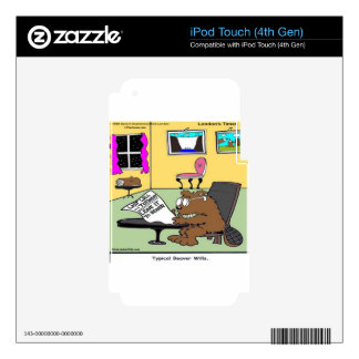 Beaver Living Wills Rick London Funny iPod Touch 4G Skins