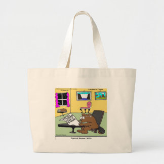 Beaver Living Wills Rick London Funny Large Tote Bag