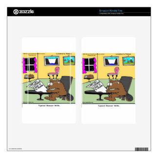 Beaver Living Wills Rick London Funny Skin For Kindle Fire