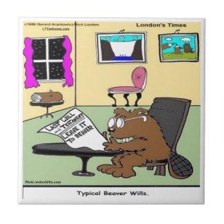 Beaver Living Wills Rick London Funny Tile
