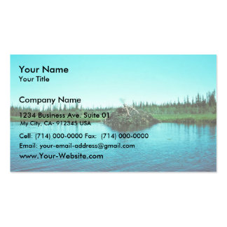 Beaver Lodge Double-Sided Standard Business Cards (Pack Of 100)
