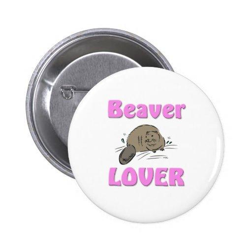 Beaver Lover Button
