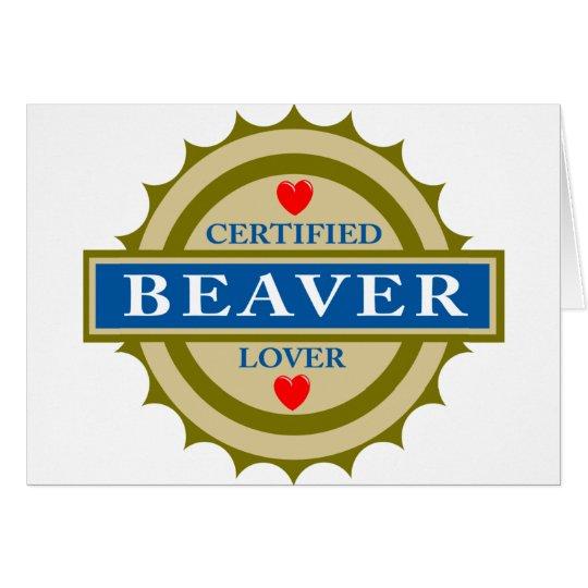 Beaver Lover Card