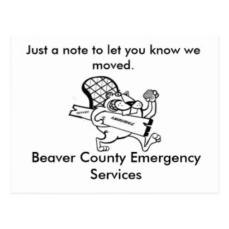 beaver  move, Just a note to let you know we mo... Postcard