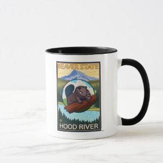 Beaver & Mt. Hood - Hood River, Oregon Mug
