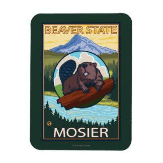 Beaver & Mt. Hood - Mosier, Oregon Magnet