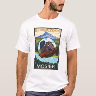 Beaver & Mt. Hood - Mosier, Oregon T-Shirt