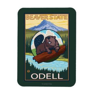 Beaver & Mt. Hood - Odell, Oregon Magnet