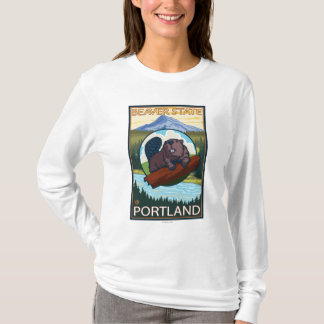 Beaver & Mt. Hood - Portland, Oregon T-Shirt