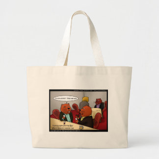 Beaver Networking Funny Gifts Tees & Cards Large Tote Bag