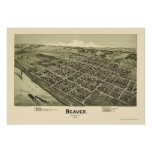 Beaver, PA Panoramic Map - 1900 Poster