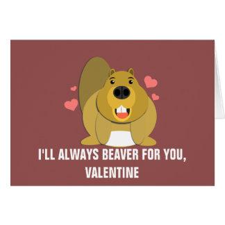 Beaver para usted a la tarjeta del día de San