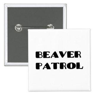 Beaver Patrol Pinback Button