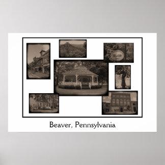 Beaver, Pennsylvania collage Poster
