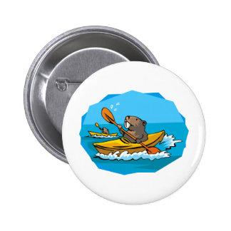 Beaver Pinback Button