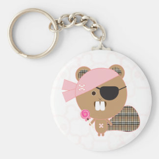 Beaver Pirate Key Chain