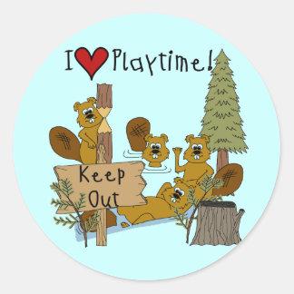 Beaver Playtime Stickers