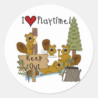 Beaver Playtime Sticker