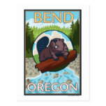 Beaver & River - Bend, Oregon Postcard