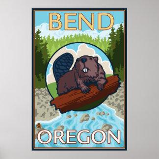 Beaver & River - Bend, Oregon Poster