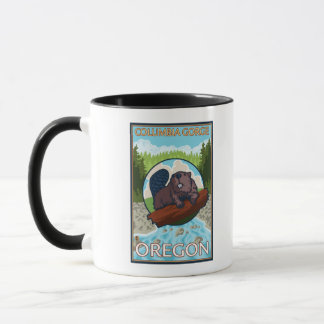 Beaver & River - Columbia Gorge, Oregon Mug