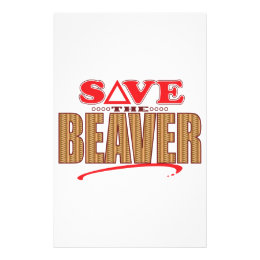 Beaver Save Stationery