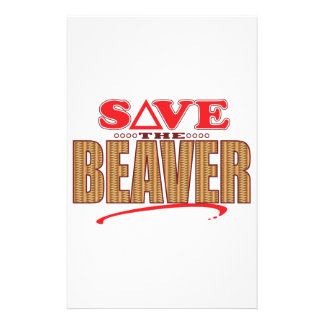 Beaver Save Stationery