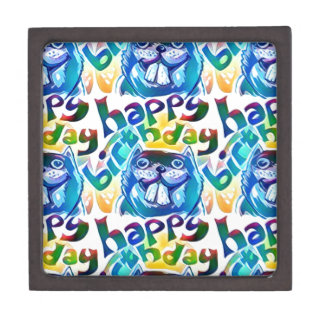 beaver say happy birthday gift box