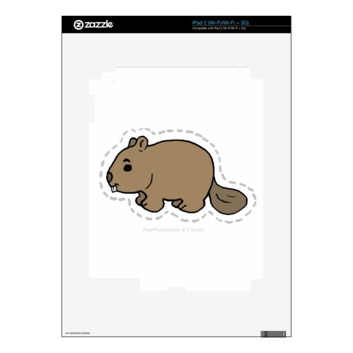 BEAVER SKINS FOR iPad 2