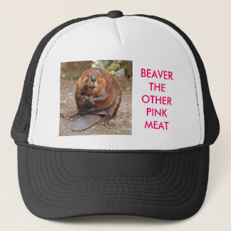 BEAVER THE OTHER PINK MEAT TRUCKER HAT