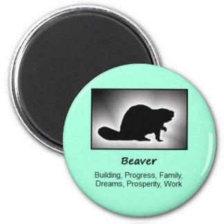 Beaver Totem Animal Spirit Meaning 2 Inch Round Magnet