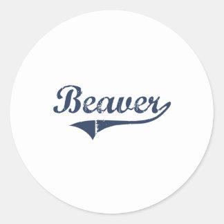 Beaver Utah Classic Design Round Stickers
