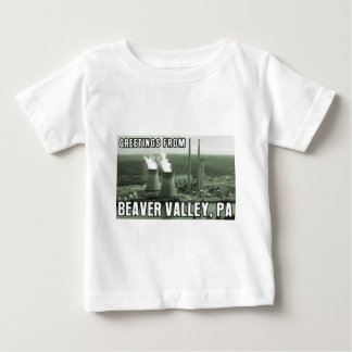 Beaver Valley Power Station PA Greetings From NUKE Baby T-Shirt