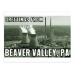 Beaver Valley Power Station PA Greetings From NUKE Postcard