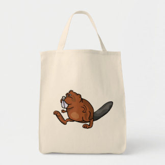 Beaver Walking Tote Bag