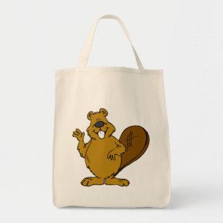 Beaver Waving Tote Bag