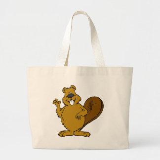 Beaver Waving Canvas Bags