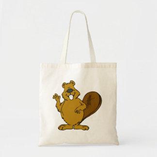 Beaver Waving Canvas Bag