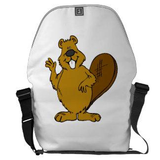Beaver Waving Courier Bag
