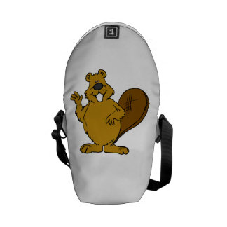 Beaver Waving Courier Bags