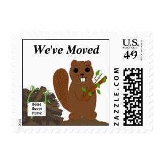 Beaver with Beaver Dam Postage Stamp