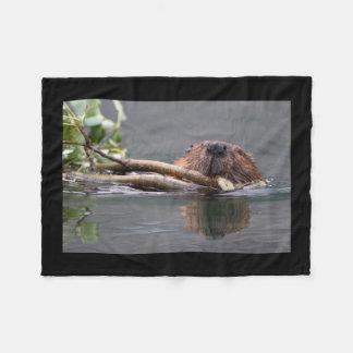 Beaver Working Fleece Blanket