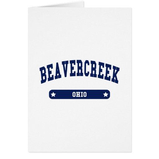 Beavercreek Ohio College Style t shirts Greeting Cards