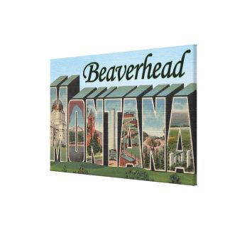 Beaverhead, Montana - escenas grandes de la letra Impresion De Lienzo