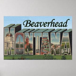 Beaverhead, Montana - escenas grandes de la letra Póster