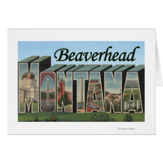 Beaverhead, Montana - escenas grandes de la letra Tarjeta De Felicitación