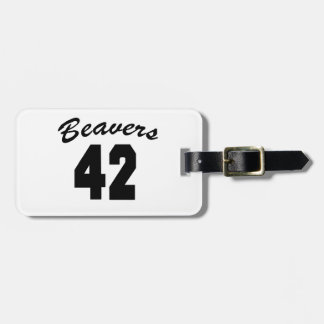 Beavers #42 bag tag