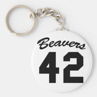 beavers 42 keychain